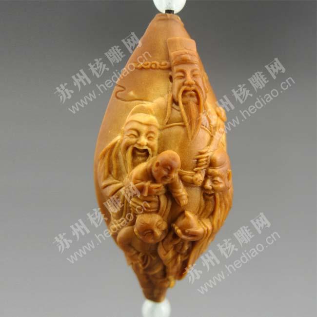李建东的核雕作品——福禄寿喜